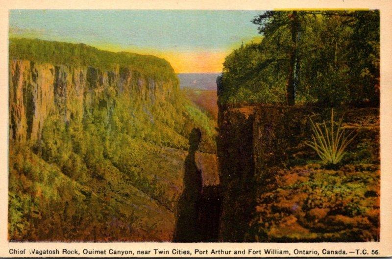 Canada Chief Wagatosh Rock Ouimet Canyon Near Twin Cities Of Port Arthur & Fo...