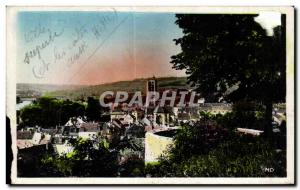 Old Postcard Chateau Thierry du Chateau View taken