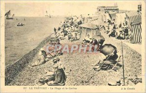 Old Postcard Le Treport Beach and Casino