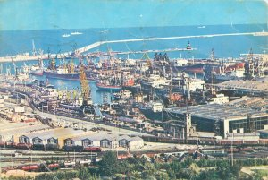 carte postala Romania Constanta vedere generala din port
