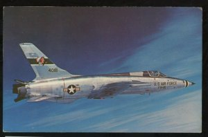 USAF TACTICAL COMMAND Republic F-105 Thunderchief fighter bomber Postcard