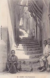 Children, Stairs, Rue Tombouctou, Alger, Algeria, Africa, 1900-1910s