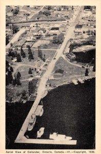 Callander Ontario Canada Aerial View Vintage Postcard JF686611