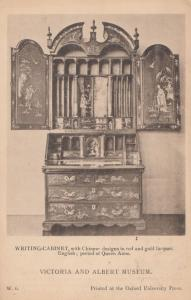 Queen Anne's Chinese Antique Writing Cabinet British Museum Old Postcard