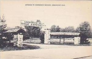 Pennsylvania Greenwood Hills Entrance To Conference Grounds Artvue