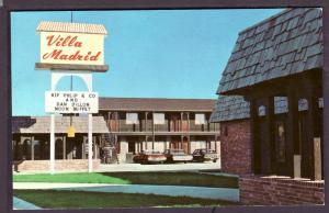 Villa Madrid Motel Crete Nebraska Post Card PC2282