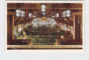ANTIQUE POSTCARD NATIONAL STATE PARK YELLOWSTONE CANYON HOTEL LOBBY #3