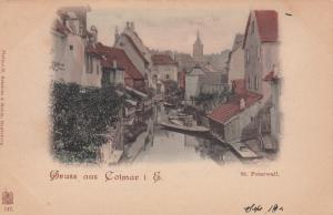 Gruss aus Colmar i. E. , Germany, 1890s ; St. Peterwall