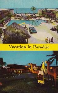 Florida Miami Beach Sahara Resort Motel With Pool 1968