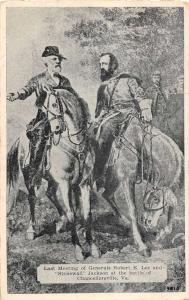 Chancellorsville Virginia last meetin Robert E Lee & Jackson antique pc ZA440341