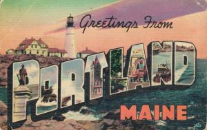 USA Greetings from Portland Maine 02.66