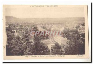 Old Postcard Panorama Royat Clermont Ferrand