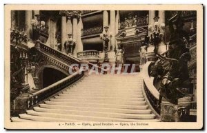 Old Postcard Paris Opera Grand Staircase the Opera Staircase