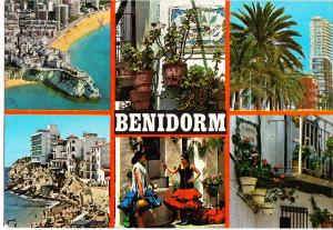 Spain, BENIDORM, 1980 used Postcard