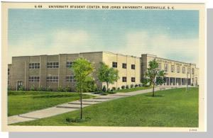 Greenville, South Carolina/SC Postcard,Jones Univ,Near Mint!