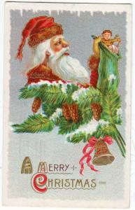 Santa with Stocking of Toys