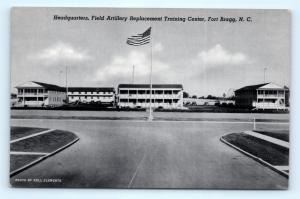Postcard NC Fort Bragg Headquarters Field Artillery Training Center I7