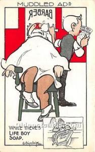 Advertising Postcard - Old Vintage Antique Muddled Ad's Life Boy Soap Un...
