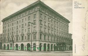 1908 South Bend IN PC: Oliver Hotel, Monochromatic Green