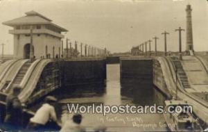 Panama Panama Canal Gatun Locks Real Photo