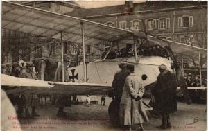CPA AK Luneville - Lunéville - Exposition Place Léopold d'un aeroplane (484333)
