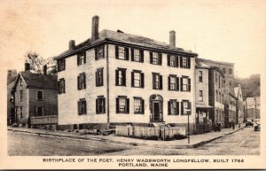 Maine Portland Birthplace Of The Poet Henry Wadsworth Longfellow Built 1784