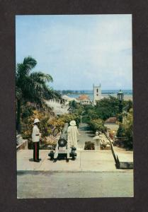 Bahamas Govt House Columbus Statue Christ Church Cathedral Nassau Postcard