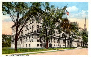 Fort Wayne, Indiana - A view of the High School - in 1917