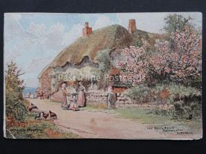 Cornwall PORTHALLOW The Beach Road Artist Bridgeman c1905 by Raphael Tuck 7119