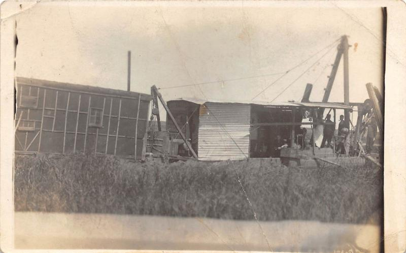 D94/ Occupational Real Photo RPPC Postcard c1910 Crane Boom Ditch Crew 19