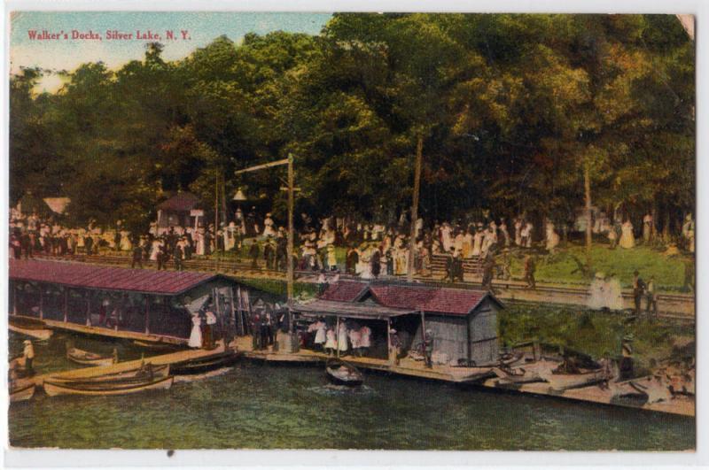 Silver Lake Ny >> Walkers Docks Silver Lake Ny Hippostcard
