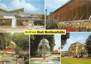 Gruss aus Bad Rothenfelde, Sole Wellenbad Brunnen Fountain Promenade Park