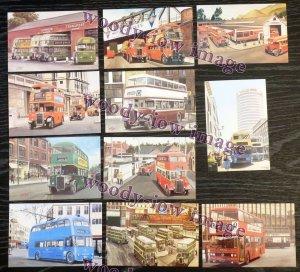 Bu050 - 11 Artista Cartoline di Autobus 9 da G S Cooper - Ottime Condizioni