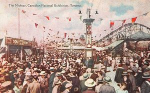 Midway, Canadian National Exhibition, Toronto, Canada, Early Postcard, Unused