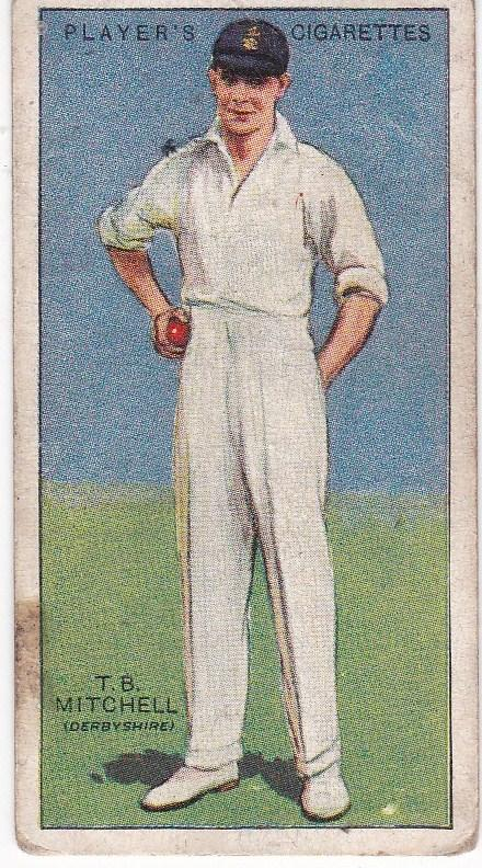 Cigarette Cards Player's Cricketers 1930 No 33 - T B Mitchell