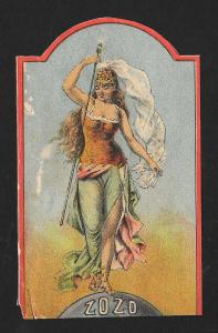 VICTORIAN TRADE CARD ZoZo Spectacle Drama Goddess