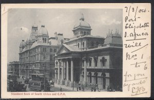 South Africa Postcard - Standard Bank of South Africa and G.P.O  RS1196