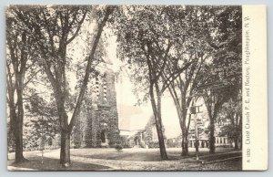 Poughkeepsie New York~Christ Protestant Episcopal & Church Rectory~c1905 B&W PC