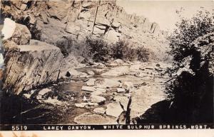 WHITE SULPHUR SPRINGS MONTANA LANEY CANYON~CHAMBERLIN REAL PHOTO POSTCARD