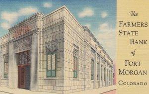 FORT MORGAN , Colorado , 1930-40s ; Farmers State Bank