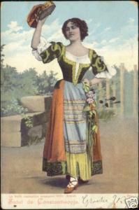 turkey, CONSTANTINOPLE, Romanian Singer Anette (1899)