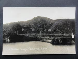 Central America THE PANAMA CANAL In Gatun Lake - Old RP Postcard