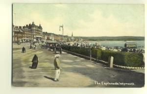 tp4557 - Dorset - Esplanade Looking towards Gentlemans Saloon Weymouth- Postcard