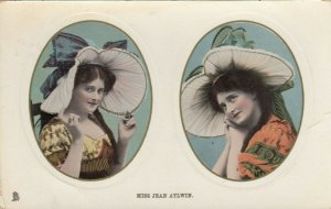 Actress portrait Miss Jean Aylwin;  1909; Dual Oval Portraits # 3