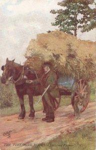 Gordon Home. the Yorskire Moors.  Yorshire Farmer. Horse Tuck Oilette PC #7538