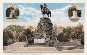 Monuments In Fairmount Park Philadelohia Pennsylvania