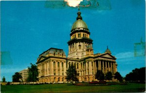 Springfield IL State Capitol Building Postcard unused (21323)