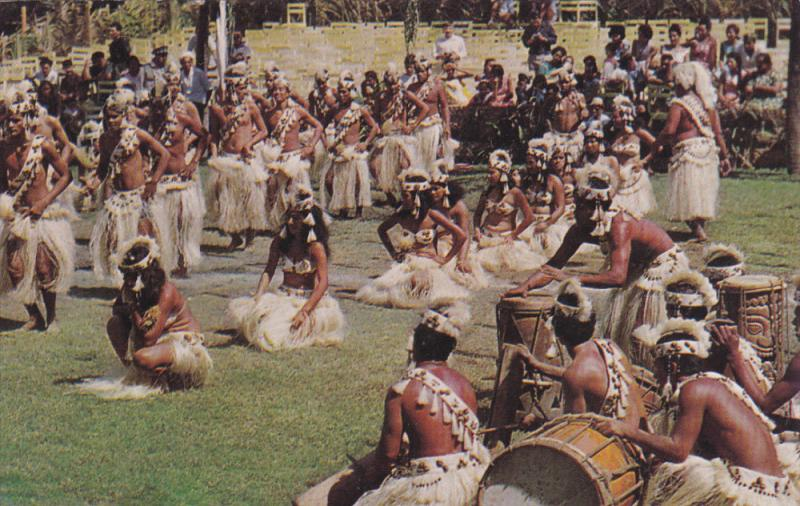 Mixed Otea By the Goup of Pueu, TAHITI, 40-60's