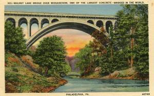 PA - Philadelphia, Walnut Lane Bridge over the Wissahickon Creek