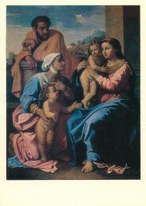 Russia Nicolas Poussin the holy family biblic Postcard